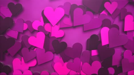 Animation-closeup-motion-romantic-hearts-on-Valentines-day-29