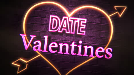 Valentines-Date-text-and-motion-romantic-heart-on-Valentines-day