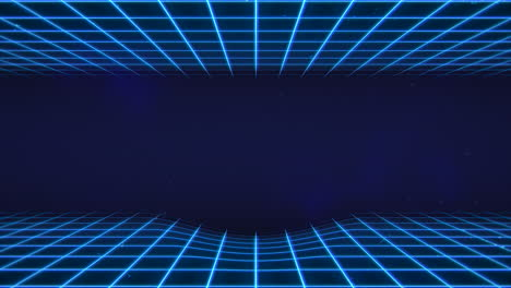 Motion-retro-blue-lines-in-space-with-abstract-background-1