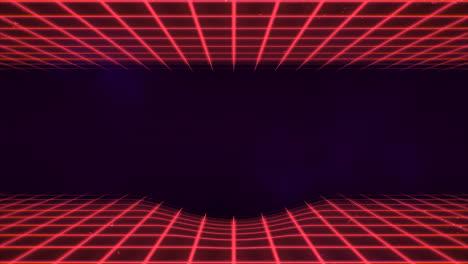Movimiento-Retro-Líneas-Rojas-Fondo-Abstracto