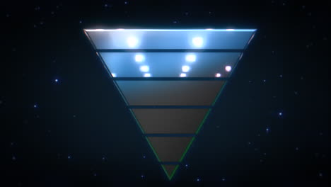 Motion-retro-blue-triangle-abstract-background