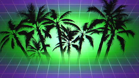 Motion-retro-summer-abstract-background-with-palm-trees-in-frame-1