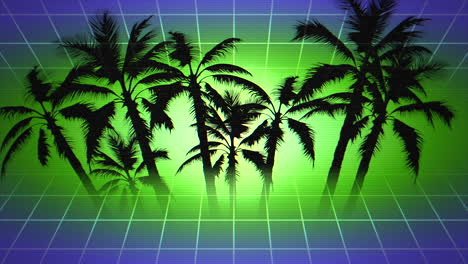 Motion-retro-summer-abstract-background-with-palm-trees-in-frame-3