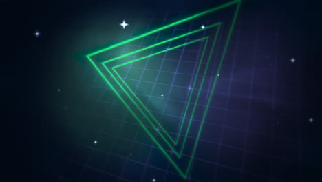 Motion-retro-triangle-in-space-with-abstract-background-6