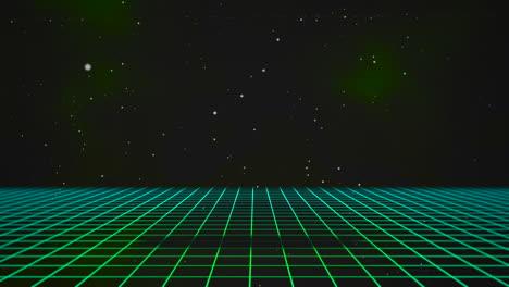Movimiento-Retro-Líneas-Verdes-En-El-Espacio-Con-Fondo-Abstracto-1