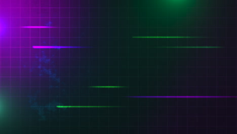 Motion-retro-green-and-purple-lines-with-abstract-background