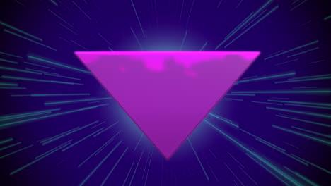 Bewegung-Retro-Lila-Dreieck-Abstrakten-Hintergrund