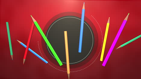 Closeup-of-kids-background-with-colourful-pencils-school-background