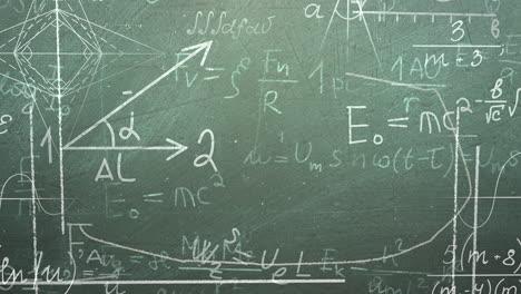 Nahaufnahme-Mathematische-Formel-Und-Elemente-Auf-Tafel-Black