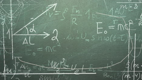 Closeup-mathematical-formula-and-elements-on-blackboard-1