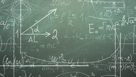 Closeup-mathematical-formula-and-elements-on-blackboard-3