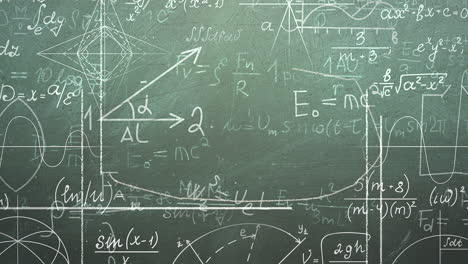 Closeup-mathematical-formula-and-elements-on-blackboard-4