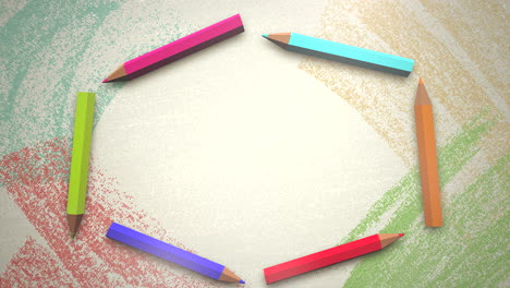 Closeup-of-kids-background-with-colourful-pencils-of