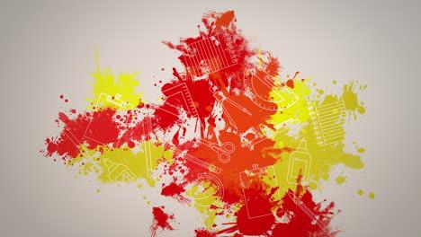 Closeup-motion-of-school-elements-educación-background-7