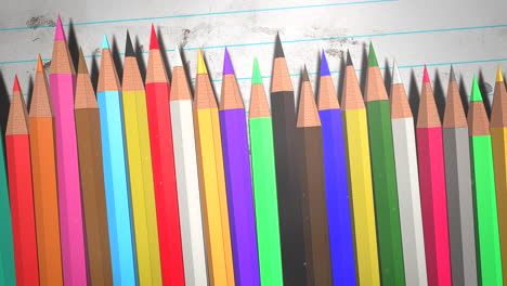 Closeup-colorful-pencil-on-paper-school-background-of-education-theme