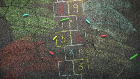 Closeup-colorful-chalk-on-blackboard-school-background-1