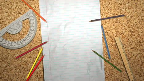 Closeup-table-of-student-with-notebook-and-pencil-school-background-1