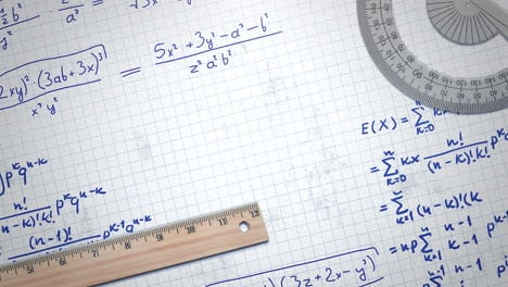 Closeup-mathematical-formula-and-elements-on-paper-school-background-3
