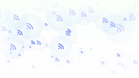 Motion-feed-icons-on-simple-network-background