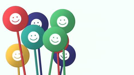 Motion-Smile-icon-on-simple-network-background
