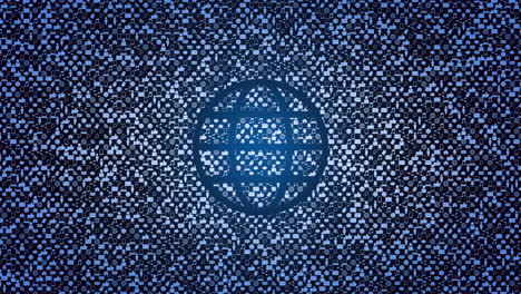 Motion-Globe-icon-on-simple-network-background-1