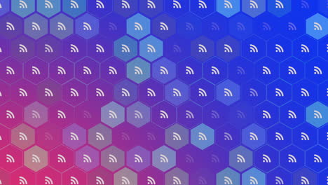 Motion-feed-icons-on-simple-network-background-2