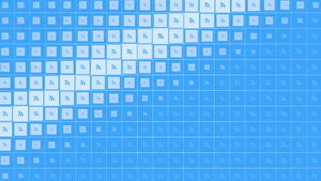 Motion-feed-icons-on-simple-network-background-3
