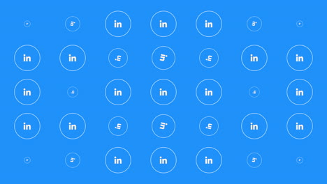 Motion-icons-of-LinkedIn-social-network-on-simple-background-4