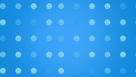 Motion-Smile-icon-on-simple-network-background-3