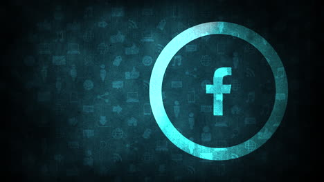 Iconos-De-Movimiento-De-La-Red-Social-Facebook-Sobre-Fondo-Simple-9