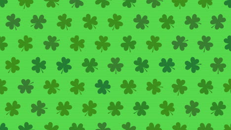 Animation-Saint-Patricks-Day-holiday-background-with-motion-green-shamrocks