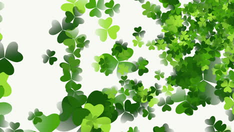Motion-green-shamrocks-with-Patricks-Day-1