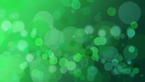 Abstract-green-bokeh-and-particles-falling-with
