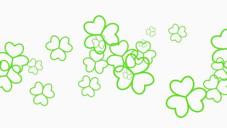 Animación-Del-Día-De-San-Patricio-Con-Tréboles-Verdes-De-Movimiento-16