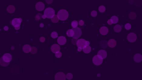 Bokeh-Púrpura-Abstracto-Y-Partículas-Cayendo-Con