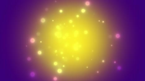 Caen-Círculos-Abstractos-Bokeh-Y-Partículas-Con-Felices-Fiestas