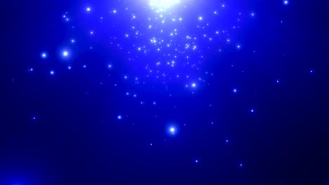 Movimiento-De-Partículas-Azules-Y-Estrellas-En-La-Galaxia-4