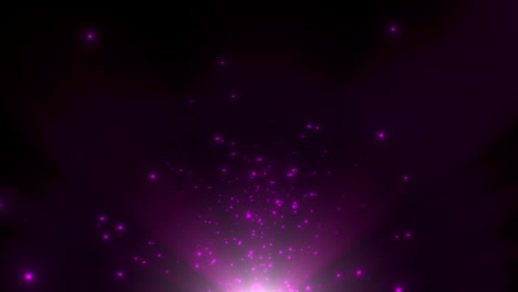 Motion-purple-particles-and-stars-in-galaxy-1