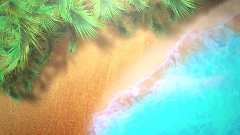 Closeup-sandy-beach-with-blue-waves-of-ocean-6