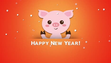 Happy-New-Year-text-and-funny-pig