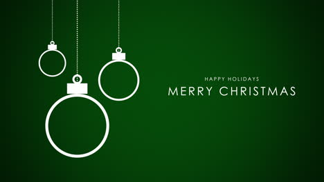 Merry-Christmas-text-with-white-balls-on-green-background