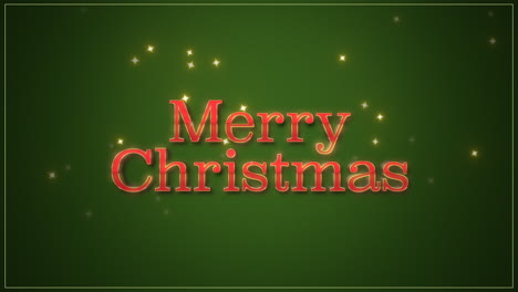 Merry-Christmas-text-on-green-background