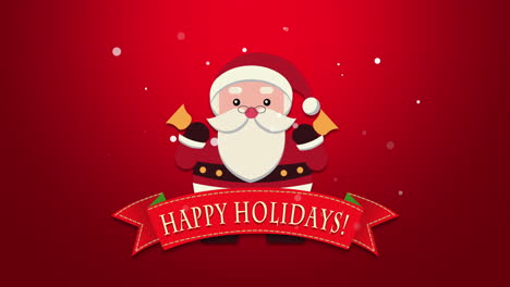 Happy-Holidays-text-with-Santa-Claus-with-bells