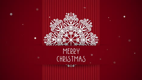Merry-Christmas-text-with-white-snowflakes-on-red-background-3