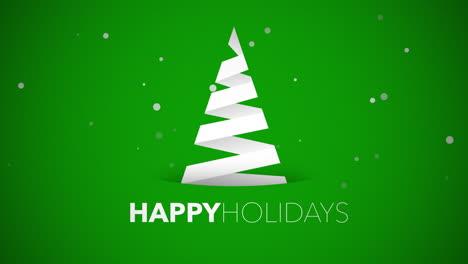 Felices-Vacaciones-Texto-Con-árbol-De-Navidad-Blanco-Sobre-Fondo-Verde-1