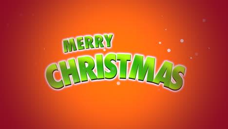 Merry-Christmas-text-on-orange-background