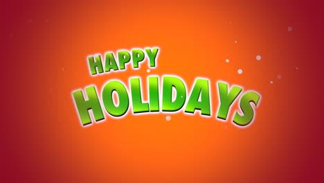 Happy-Holidays-text-on-orange-background