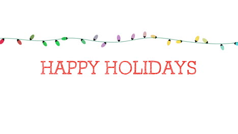 Happy-Holidays-text-with-colorful-garland-on-white-background-1