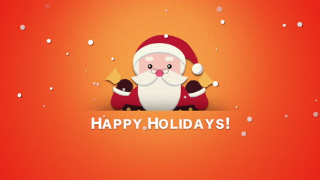 Happy-Holidays-text-with-Santa-Claus-with-bells-1