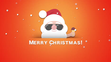 Merry-Christmas-text-with-Santa-Claus-with-ice-cream-1